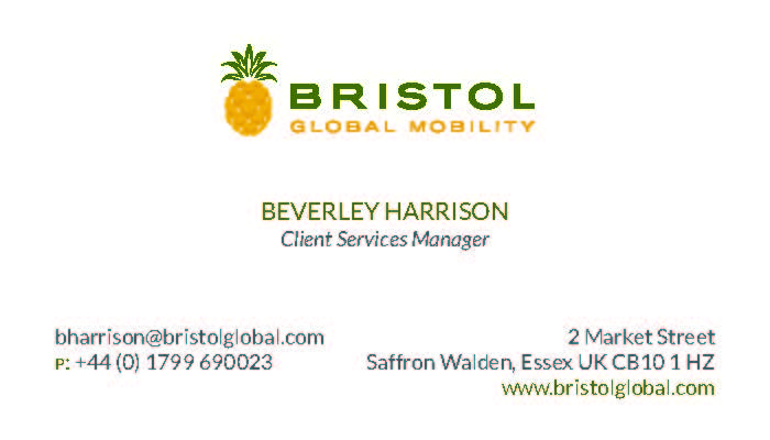 Business Card Printing for Bristol Relocation Specialists